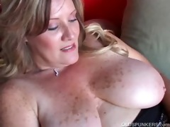 glamorous cougar has wonderful large tits