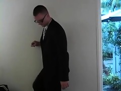 tyler sees a stylish guy in a business suit