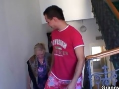 granny acquires group-fucked by an youthful