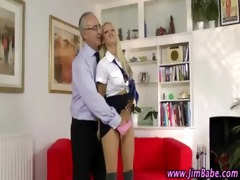 older lad watches younger girl oral fingering