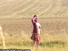 teen girl on a hike outdoor disrobes fully part2