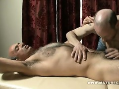 dad receives a massage and fucks the masseur