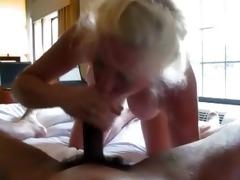 blond older gives head