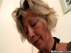 hawt mother-in-law sucks and rides his horny dick