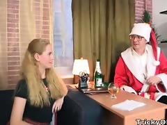 charming young blond gets to fuck santa claus