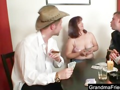 granny plays poker and gets screwed