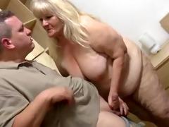 fatty granny with flabby body &; guy
