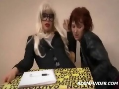 femdom teacher has her lesbo student receive her