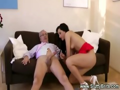 young woman tastes old pounder then cunt