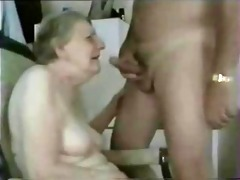 granny sucking juvenile cock. amateur