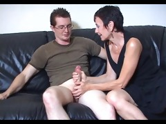 mum marie makes his big cock cum