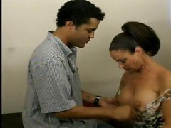 hot aged lady pays the pool guy with cum-hole