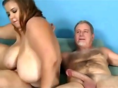 mommy with mega-giant boobs &; old man