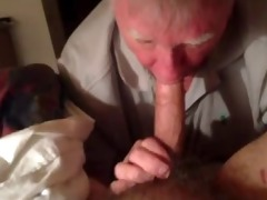 grandpa sucking cock good