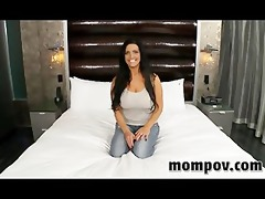 breasty milf making her debut adult video