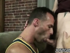 luke cross - muscular daddy fucking a pierced cock