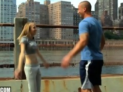blonde 19yr old teen cheats on her bf for the