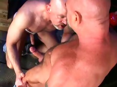 trio - two muscles daddy fuck a chap