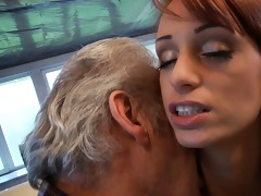favourable oldman copulates with super hawt babe