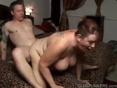 marvelous older big beautiful woman enjoys a big