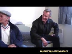 voyeur papy enjoys bust french babe