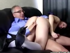 slutty school girl gets bawdy cleft fucked by