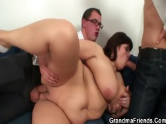 mature fatty acquires nailed by two rods